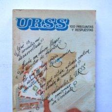 Libros de segunda mano - URSS 100 PREGUNTAS Y RESPUESTASEditorial de la agencia de prensa Nóvosti - 59805728