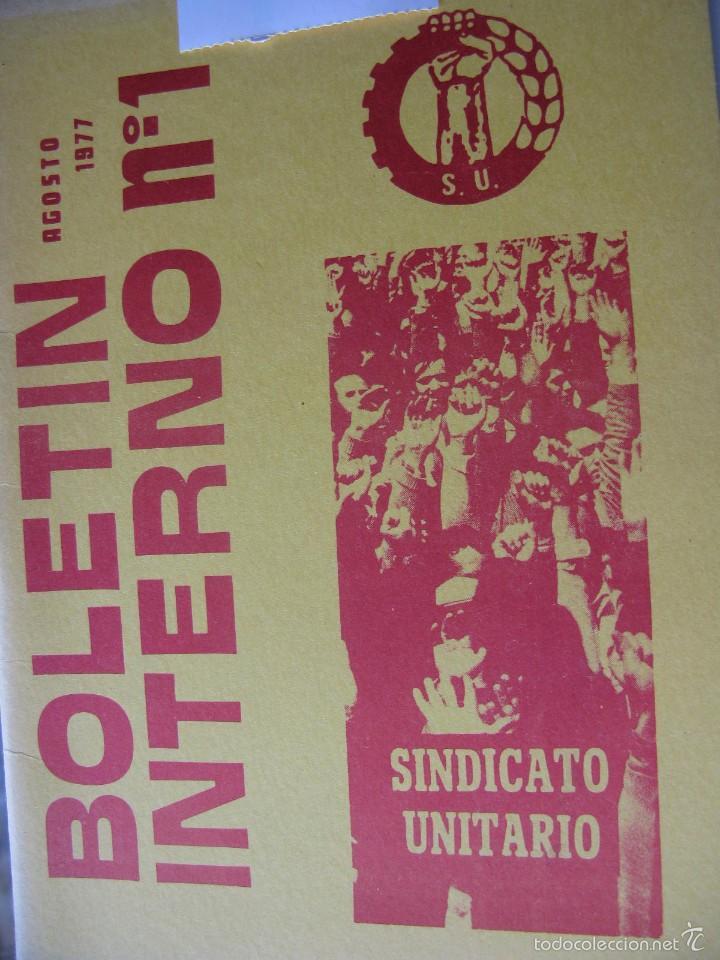 Libros de segunda mano: LOTE DE PUBLICACIONES DE SU (SINDICATO UNITARIO).1977 A 78. VER DETALLE. - Foto 2 - 60247375