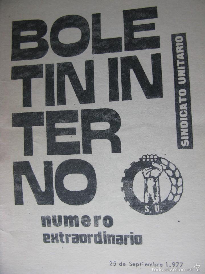 Libros de segunda mano: LOTE DE PUBLICACIONES DE SU (SINDICATO UNITARIO).1977 A 78. VER DETALLE. - Foto 3 - 60247375