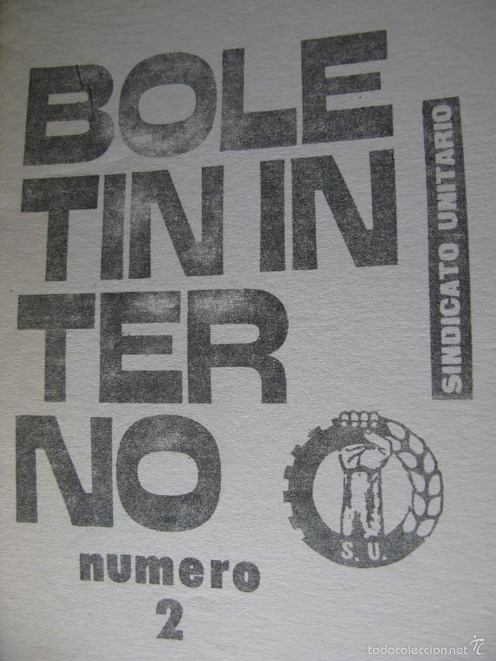 Libros de segunda mano: LOTE DE PUBLICACIONES DE SU (SINDICATO UNITARIO).1977 A 78. VER DETALLE. - Foto 4 - 60247375