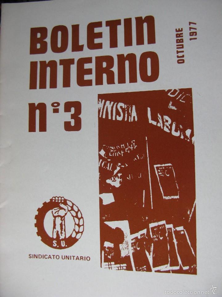 Libros de segunda mano: LOTE DE PUBLICACIONES DE SU (SINDICATO UNITARIO).1977 A 78. VER DETALLE. - Foto 5 - 60247375