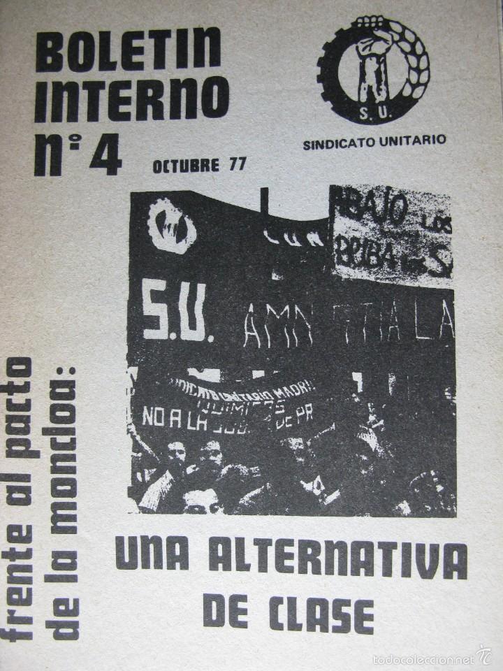 Libros de segunda mano: LOTE DE PUBLICACIONES DE SU (SINDICATO UNITARIO).1977 A 78. VER DETALLE. - Foto 6 - 60247375