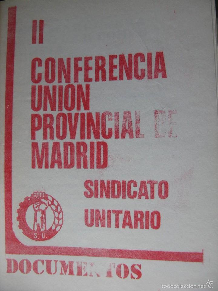 Libros de segunda mano: LOTE DE PUBLICACIONES DE SU (SINDICATO UNITARIO).1977 A 78. VER DETALLE. - Foto 9 - 60247375