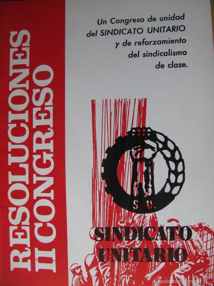 Libros de segunda mano: LOTE DE PUBLICACIONES DE SU (SINDICATO UNITARIO).1977 A 78. VER DETALLE. - Foto 10 - 60247375