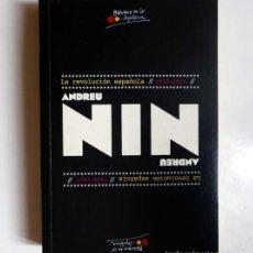 Libros de segunda mano: LA REVOLUCIÓN ESPAÑOLA 1930-1937 - ANDREU NIN. Lote 60682603