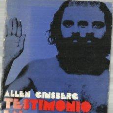 Libros de segunda mano: TESTIMONIO EN CHICAGO. ALLEN GISBERG. EDITORIAL FONTAMARA. BARCELONA. 1975. Lote 120700848