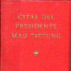 Libros de segunda mano: CITAS DEL PRESIDENTE MAO TSETUNG (PEKIN, 1972) EL LIBRO ROJO. Lote 85873095