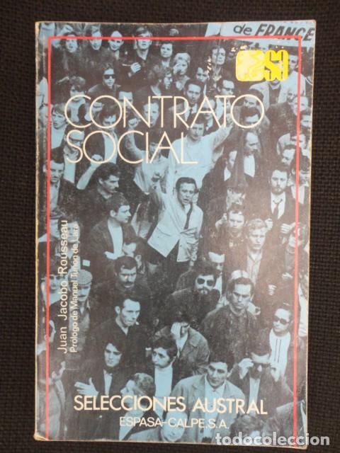 CONTRATO SOCIAL (, POLITICA SOCIAL ) , AUTOR JUAN JACOBO ROUSSEAU - 1975 NUEVO (Libros de Segunda Mano - Pensamiento - Política)