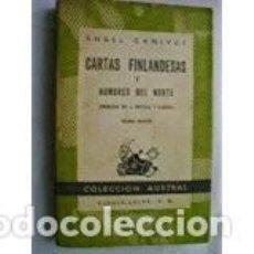 Libros de segunda mano: CARTAS FINLANDESAS Y HOMBRES DEL NORTE. ANGEL GANIVET. Lote 66865690