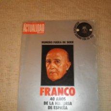 Libros de segunda mano: FRANCO 40 AÑOS DE LA HISTORIA DE ESPAÑA LA ACTUALIDAD ESPAÑOLA DOCUMENTO SONORO CON SU VOZ 1958. Lote 67165441