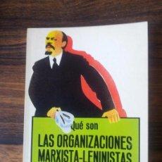 Gebrauchte Bücher - QUE SON LAS ORGANIZACIONES MARXISTA-LENINISTAS-CARLOS TRIAS - 67488665