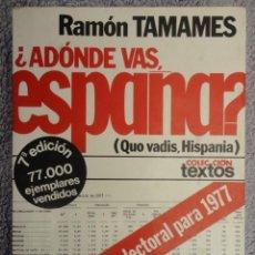Libros de segunda mano: ¿ A DONDE VAS , ESPAÑA ? ( QUO VADIS , HISPANIA ) - 1.976. Lote 70578437