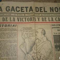 Libros de segunda mano: PERIÓDICO LA GACETA DEL NORTE 1 ABRIL 1943. Lote 71770361