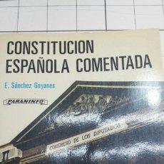Libros de segunda mano: LIBRO ANTIGUA CONSTITUCIÓN ESPAÑOLA AÑO 87. Lote 58624614