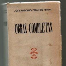 Livres d'occasion: JOSE ANTONIO PRIMO DE RIVERA OBRAS COMPLETAS. EDICIONES FALANGE. 1945. Lote 75848567