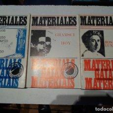 Libros de segunda mano: REVISTA MATERIALES CRITICA DE LA CULTURA--LOS 3 NUMEROS EXTRAORDINARIOS DE 1977-78. Lote 77282245