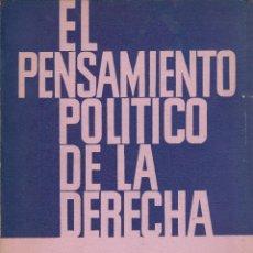 Libros de segunda mano: SIMONE DE BEAUVOIR. EL PENSAMIENTO POLÍTICO DE LA DERECHA. BUENOS AIRES, 1963.. Lote 78624601
