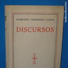 Libros de segunda mano: DISCURSOS .-- RAIMUNDO FERNÁNDEZ CUESTA. Lote 80270833