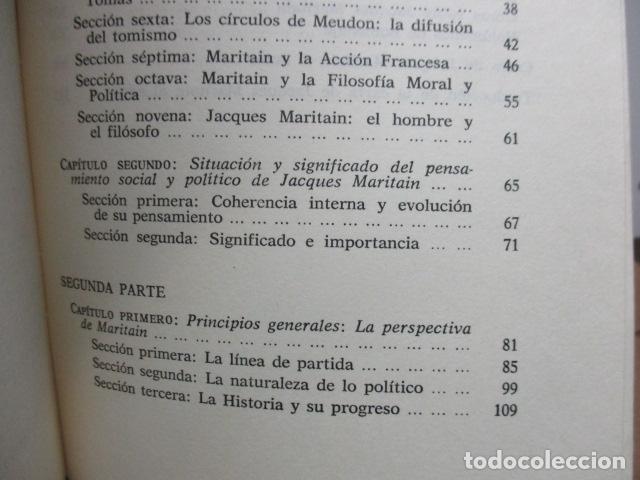 Libros de segunda mano: Persona, sociedad y estado, pensamiento social y político de Maritain, Gregorio Peces Barba - Foto 7 - 82056044