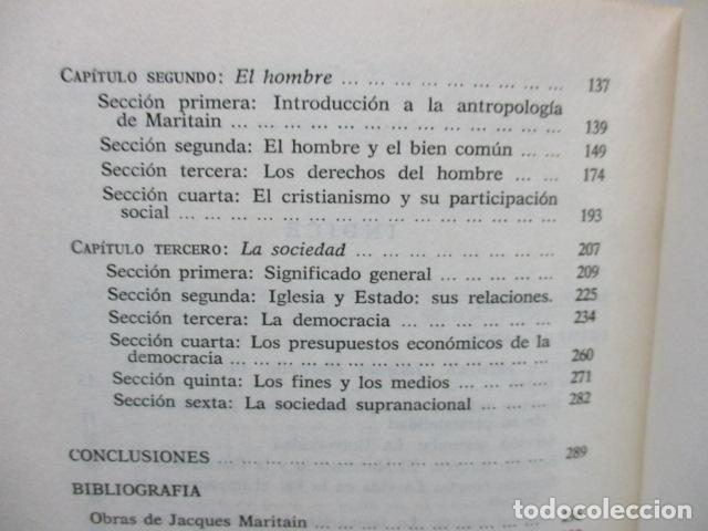 Libros de segunda mano: Persona, sociedad y estado, pensamiento social y político de Maritain, Gregorio Peces Barba - Foto 8 - 82056044