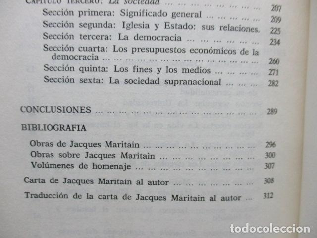 Libros de segunda mano: Persona, sociedad y estado, pensamiento social y político de Maritain, Gregorio Peces Barba - Foto 9 - 82056044
