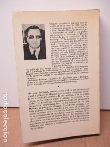 Libros de segunda mano: Persona, sociedad y estado, pensamiento social y político de Maritain, Gregorio Peces Barba - Foto 10 - 82056044