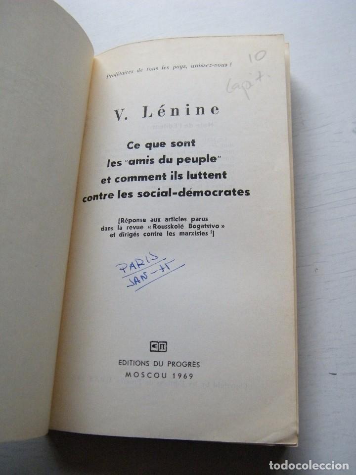 Libros de segunda mano: CE QUE SONT LES AMIS DU PEUPLE ET COMMENT ILS LUTTENT CONTRE LES SOCIAL-DÉMOCRATES - LENIN - Foto 3 - 84772860