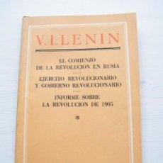 Libros de segunda mano: EN EL COMIENZO DE LA REV. RUSA / EJERCITO REVOLUCIONARO - LENIN - EDICIONES EN LENGUAS EXTRANJERAS. Lote 84775680