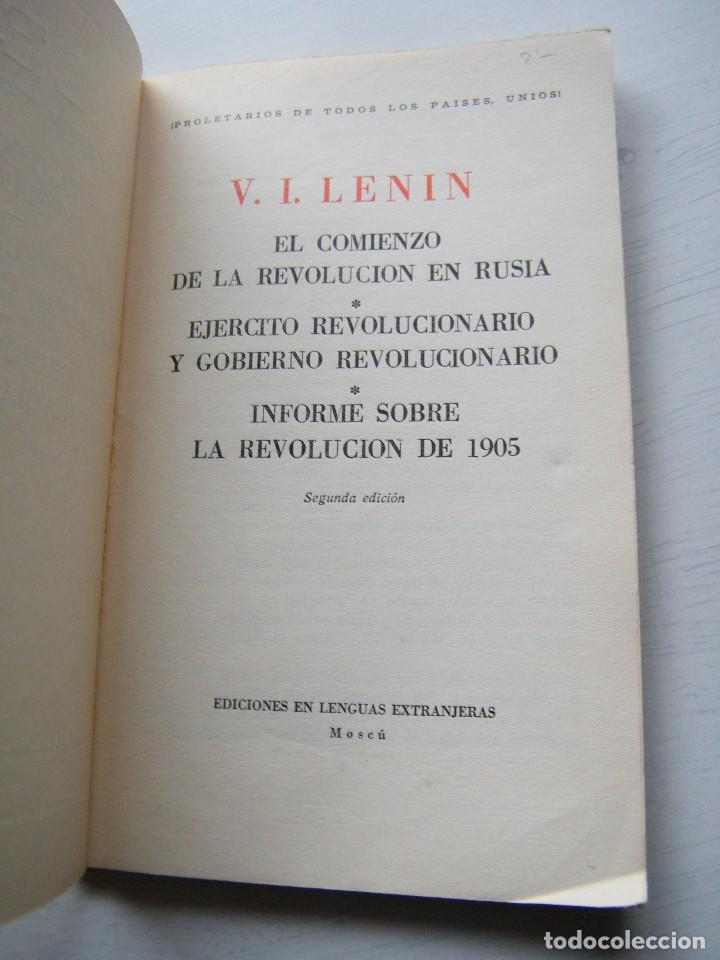 Libros de segunda mano: EN EL COMIENZO DE LA REV. RUSA / EJERCITO REVOLUCIONARO - LENIN - EDICIONES EN LENGUAS EXTRANJERAS - Foto 3 - 84775680