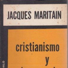 Libros de segunda mano: JACQUES MARITAIN. CRISTIANISMO Y DEMOCRACIA. BUENOS AIRES, 1961.. Lote 85629260