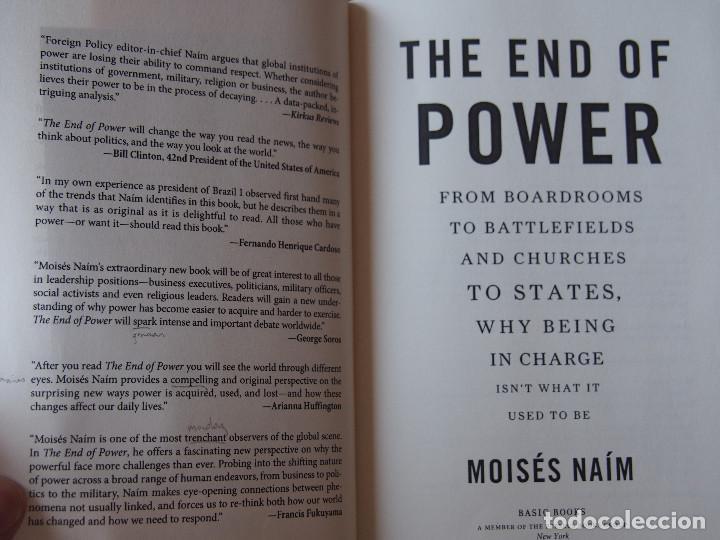 Libros de segunda mano: Moisés Naím - The End of Power - Basic Books - New York - Foto 2 - 90747435