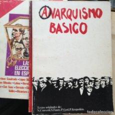 Libros de segunda mano: ANARQUISMO BÁSICO. Lote 105357862