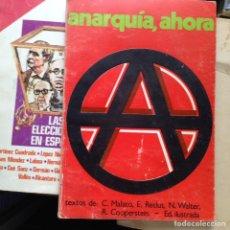 Libros de segunda mano: ANARQUISMO AHORA. C. MALAYO. Lote 95044347