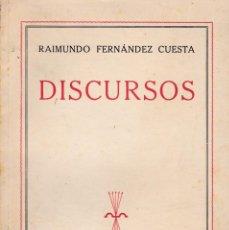 Libros de segunda mano: DISCURSOS DE RAIMUNDO FERNÁNDEZ CUESTA. ED. FE, 1939. FALANGE.. Lote 96593575