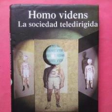 Libros de segunda mano: HOMO VIDENS LA SOCIEDAD TELEDIRIGIDA GIOVANNI SARTORI 1998 TAURUS. Lote 97728367