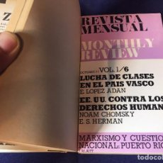 Libros de segunda mano: MONTHLY REVIEW REVISTA MENSUAL JUNIO A DIC 77 ENE A JUNIO 78 20X12X6CMS ENCUADERNADOS. Lote 97739751