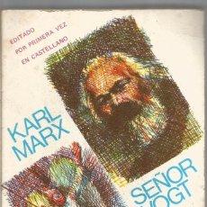 Libros de segunda mano: KARL MARX. SEÑOR VOGT. BIBLITECA PROMOCION DEL PUEBLO. Lote 98021271