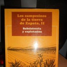 Libros de segunda mano: LOS CAMPESINOS DE LA TIERRA DE ZAPATA,2..1974.. Lote 98128783