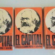 Libros de segunda mano: EL CAPITAL - CRITICA DE LA ECONOMIA POLITICA - 3 TOMOS FONDO DE CULTURA ECONOMICA. Lote 103939712