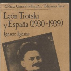 Libros de segunda mano: IGNACIO IGLESIAS. LEON TROTSKI Y ESPAÑA (1930-1939) JUCAR. Lote 100240339
