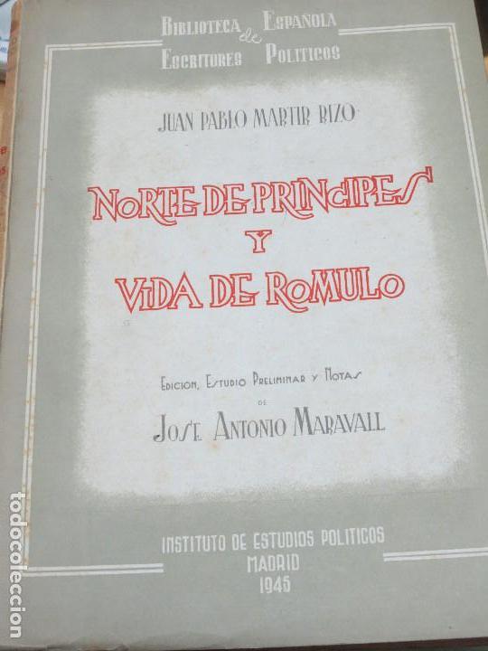 NORTE DE PRINCIPES Y VIDA DE ROMULO JUAN PABLO RIZO MADRID AÑO 1945 (Libros de Segunda Mano - Pensamiento - Política)