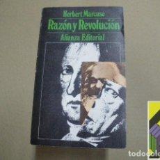 Libros de segunda mano: MARCUSE, HERBERT: RAZÓN Y REVOLUCIÓN (TRAD: JULIETA FOMBONA/FRANCISCO R.LLORENTE). Lote 100578159