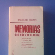 Libros de segunda mano: MEMORIAS MARISCAL ROMMEL PLAZA & JANES 1967 SEGUNDA GUERRA MUNDIAL NACIONAL - SOCIALISMO III REICH . Lote 101196631