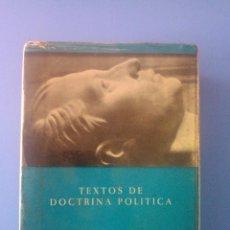 Libros de segunda mano: TEXTOS DE DOCTRINA POLITICA JOSE ANTONIO PRIMO DE RIVERA ALMENA 5ª EDICION 1970 FALANGE ESPAÑOLA. Lote 101197683
