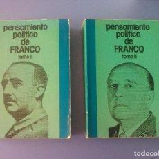 Libros de segunda mano: PENSAMIENTO POLITICO DE FRANCO EDICIONES DEL MOVIMIENTO 1975 FRANCISCO FRANCO DISCURSOS FRANQUISMO. Lote 101198151