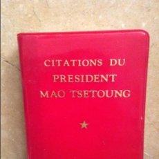 Libros de segunda mano: CITATIONS DU PRESIDENT MAO TSETOUNG - PRIMERA EDICION 1972 -. Lote 102437687