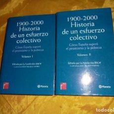 Libros de segunda mano: 1900-2000. HISTORIA DE UN ESFUERZO COLECTIVO VOL 1 Y 2. EDT. FUNDACION BSCH. PLANETA 2000. Lote 103720491