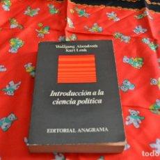 Libros de segunda mano: INTRODUCCIÓN A LA CIENCIA POLÍTICA. Lote 103843135