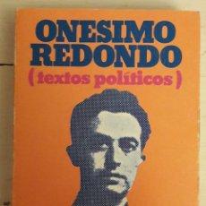 Libros de segunda mano: TEXTOS POLÍTICOS. Lote 104408246