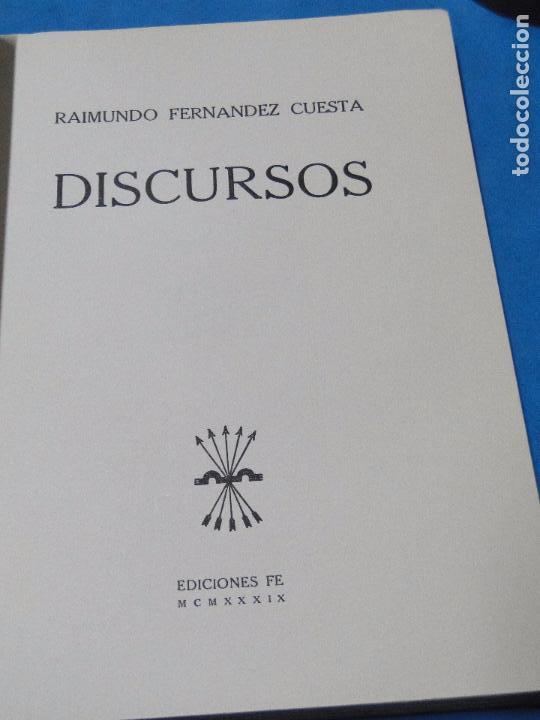 Libros de segunda mano: DISCURSOS .-- RAIMUNDO FERNÁNDEZ CUESTA - Foto 3 - 80270833